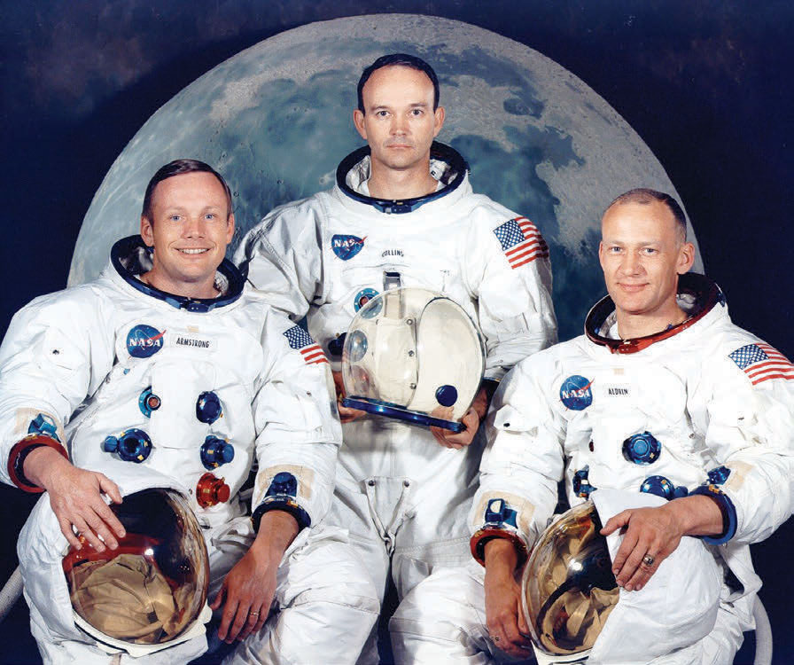 Apollo 11 Astronauts Armstrong, Collins and Aldrin