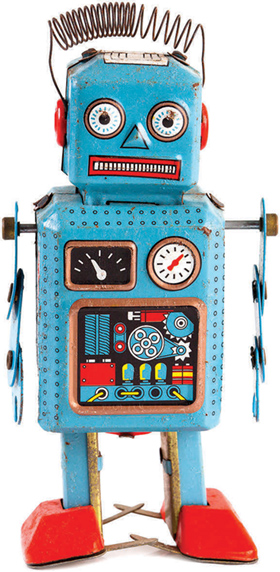 Children's toys in the 1950s  predicted a future where robots would play an important part in everyday life.