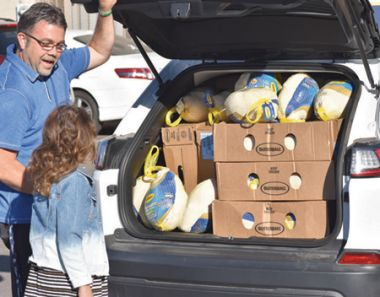 Maddy collected more than 300 turkeys!